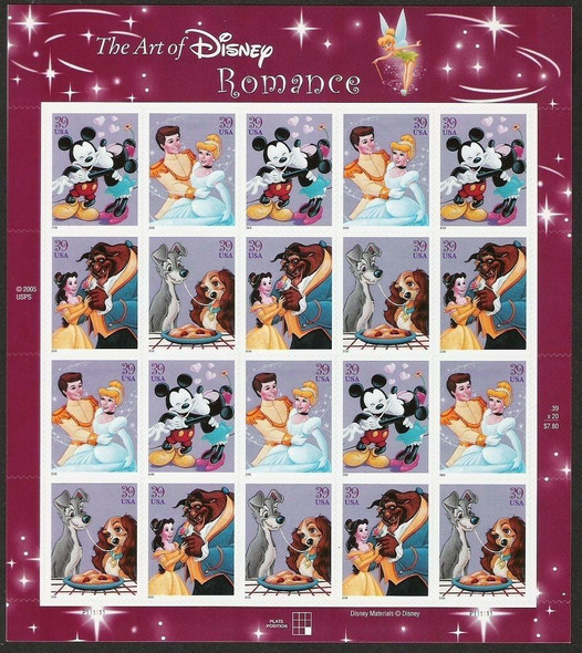 US (2005)- Disney Romance Sheet #4028A