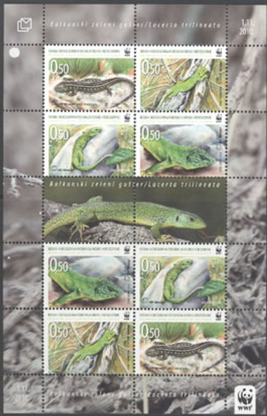 CROAT WWF Lizard- mini-sheet of 2 sets