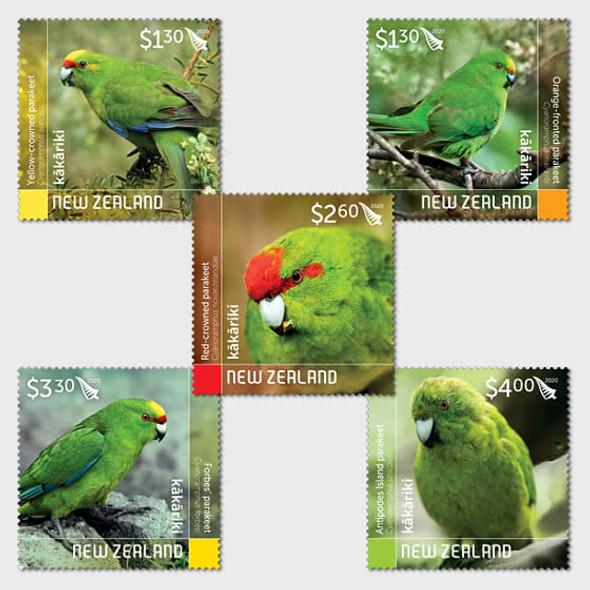 NEW ZEALAND (2020)- Parakeets (5v)