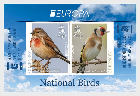 GUERNSEY (2019)- Europa Bird Sheet of 2v