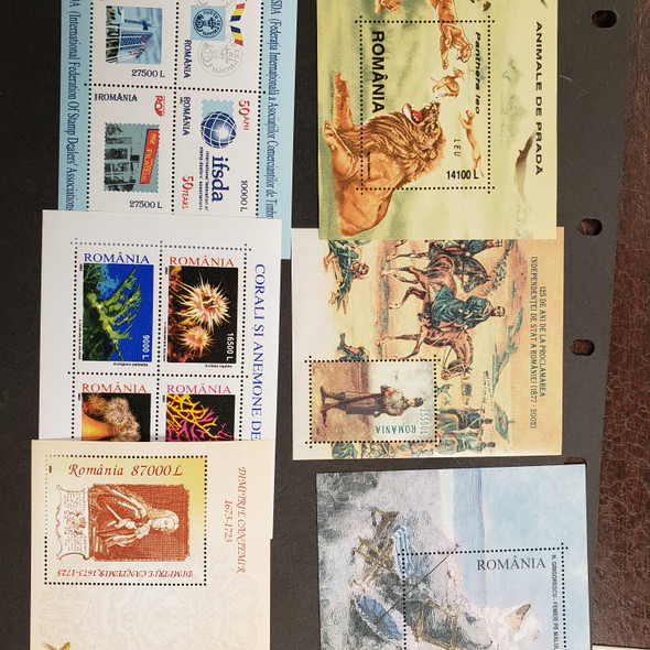 ROMANIA Souvenir Sheet Clearance 12 Items LAST ONES