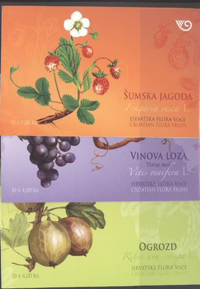 CROATIA (2010) - Fruits Booklet (3)