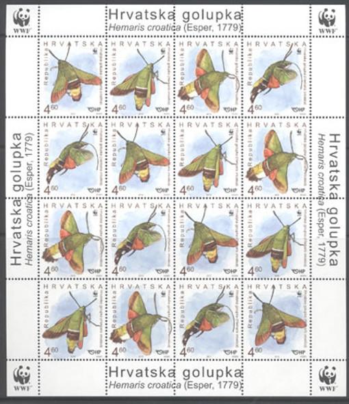 CROATIA (2012) - WWF Moths- mini-sheet of 4 sets