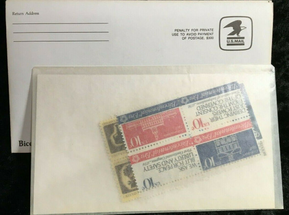 USPS BICENTENNIAL HERITAGE ALBUM WITH STAMPS & MOUNTS