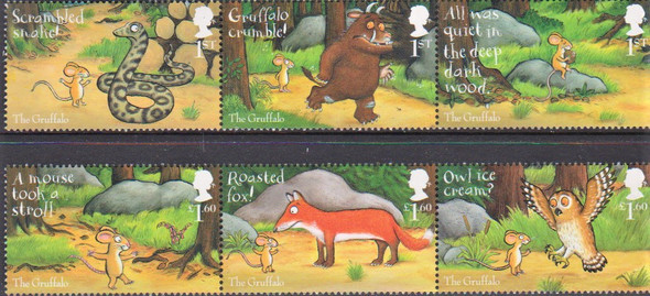 GR. BRITIAN (2020)-  Gruffalo (Comic)- Monster & Animals - 6 values