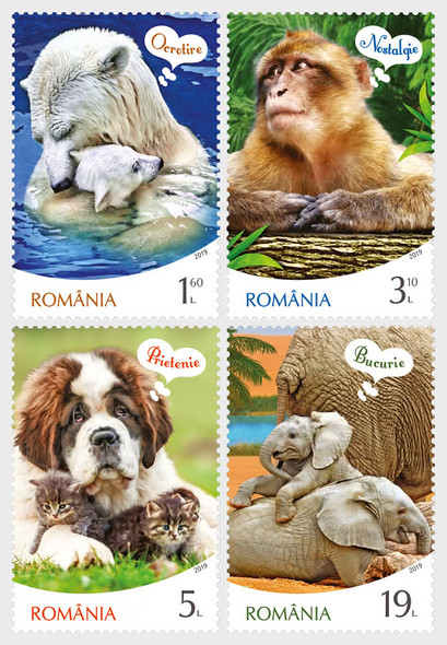 Romania  (2020)-  Animal Emotions - Dog, Polar Bear, etc. (4v)