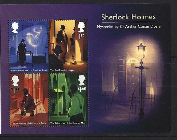 GR. BRITIAN (2020)- Sherlock Holmes Souvenir Sheet- Mysteries by Sir Arthur Conan Doyle