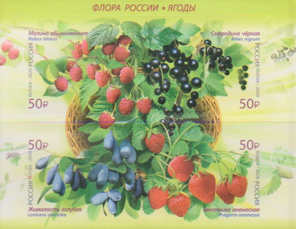 RUSSIA (2020)- Berries (4v)