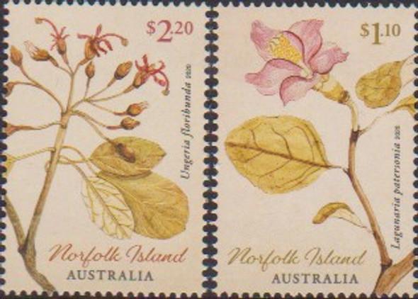 NORFOLK ISLAND (2020)- Early Botanical Art (2v & Sheet)
