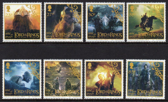 ISLE OF MAN (2003)- LORD OF THE RINGS- RETURN OF THE KING (8 VALUES)