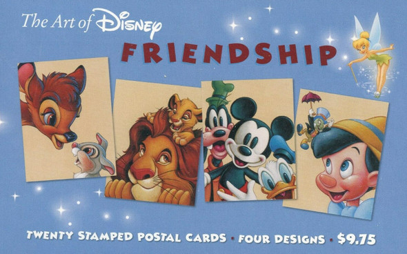 "US - Art of Disney ""Friendship"" Postcard Pack of 20 (sealed)"