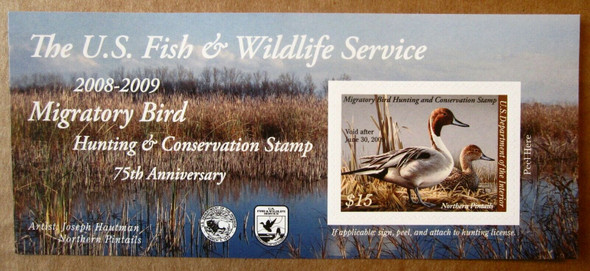 US (2008)- DUCK HUNTING STAMP SHEET-NORTHERN PINTAILS $15