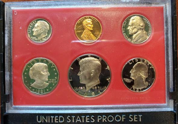 US 1981 PROOF COIN SET IN ORIGINAL BOX
