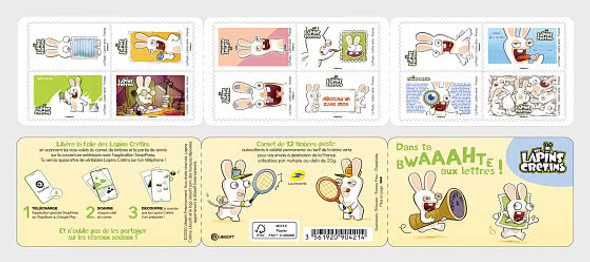 FRANCE (2020)- RAVING RABBITS CARTOON BOOKLET OF 12v