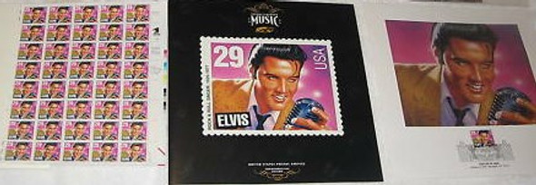 US- 1993 Elvis Presley USPS First Day Ceremony Program - Complete Collection