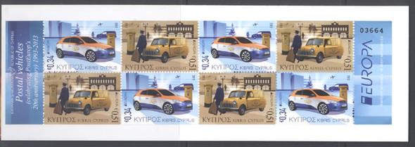 CYPRUS- Europa 2013 Postal Vehicles Booklet