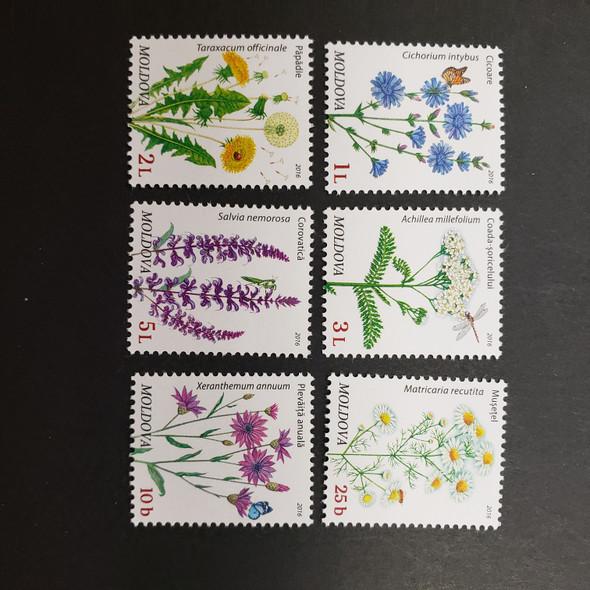 MOLDOVA (2016) Floral Definatives (6v)