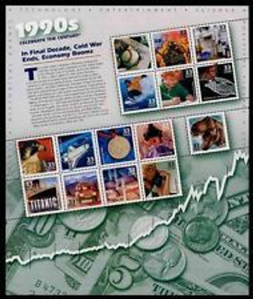 U.S. #3182-91 --CELEBRATE THE CENTURY SHEETS- COMPLETE SET  (10 Sheets)