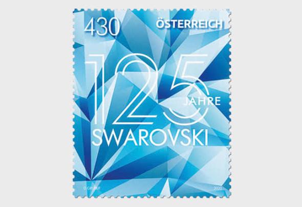 AUSTRIA  (2020)- 125 Years of Swarovski - silver foil stamp