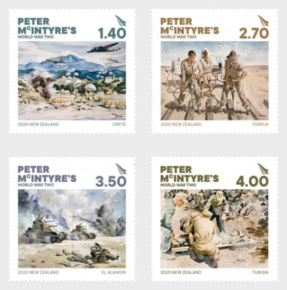 NEW ZEALAND (2020)- Peter McIntyre's World War Paintings (4v)