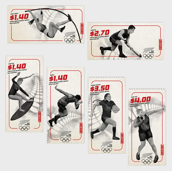 NEW ZEALAND (2020)- Tokyo Olympic Games Set of 6 Mint Stamps