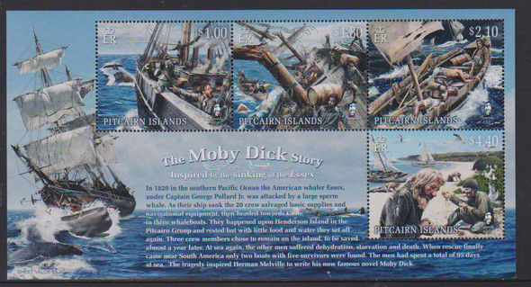 "PITCAIRN ISLANDS(2020)- ""The Moby Dick Story"" Sheet of 4v"