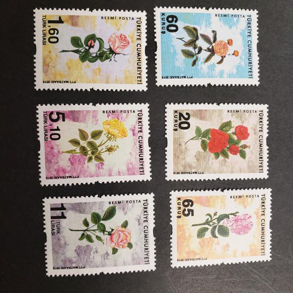 TURKEY (2017) Flora, Roses (6v)