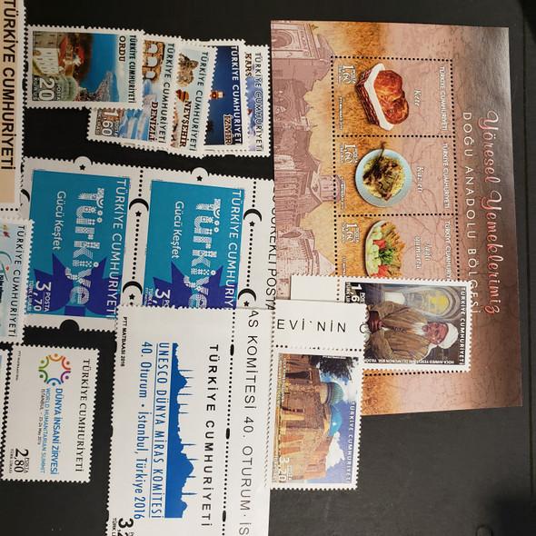TURKEY (2016,17) Various Sets, SS LASTONEs