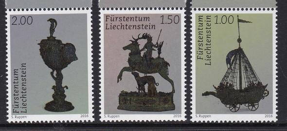 LIECHTENSTEIN (2016)- -Silversmith Treasures (3)