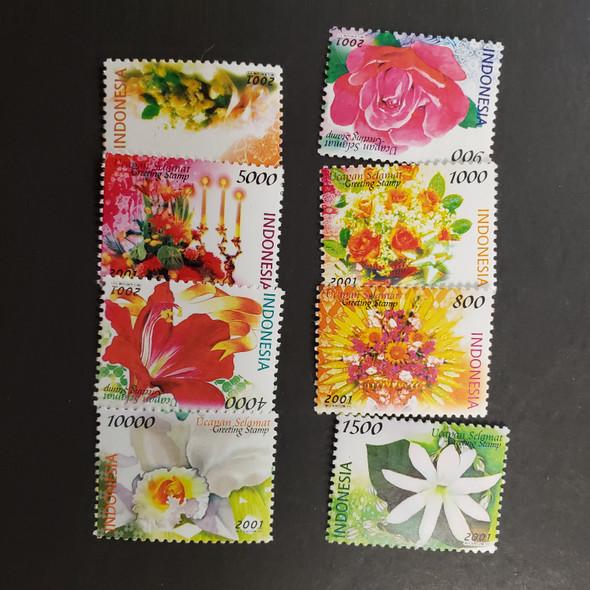 INDONESIA (2001) Flora, Flowers (8v)