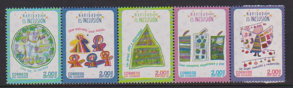 ECUADOR (2019)- CHRISTMAS (Strip of 5 values)
