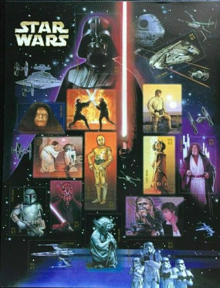 US (2007)- DISCOUNT POSTAGE LOT- 3X STAR WARS SHEET #4143