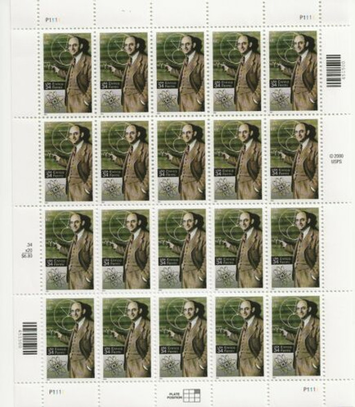 US (2001)- ENRICO FERMI, Physicist-Sheet of 20-- #3553