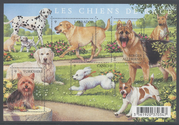 Dogs- souvenir sheet