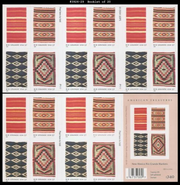 US (2009)- New Mexico Rio Grande Blankets Booklet #3926-9