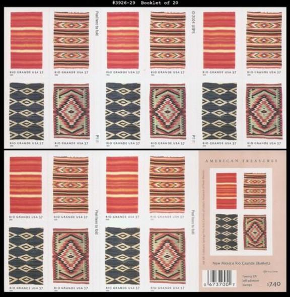US (2009)- New Mexico Rio Grande Blankets Booklet #3926-9
