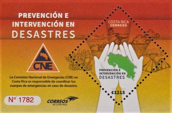 Costa Rica  (2020)-Prevent Disaster Souvenir Sheet