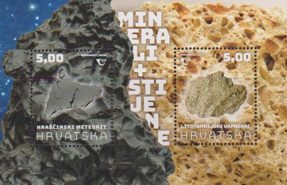 Croatia  (2020)-Rocks and Minerals Souvenir Sheetr