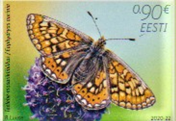 Estonia  (2020)- Butterfly of the Year- March Fitlary