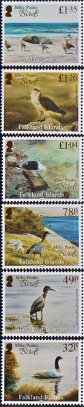 FALKLAND ISLANDS (2020)- Miek Peake's Bird Paintingns (6 values)