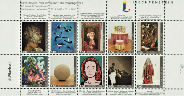 LIECHTENSTEIN  (2020)-Art From Past to Future Sheet of 10 values)