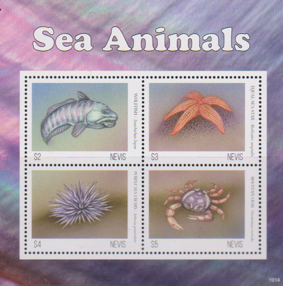 NEVIS  (2020)-FISH & SEALIFE SHEETS (2)