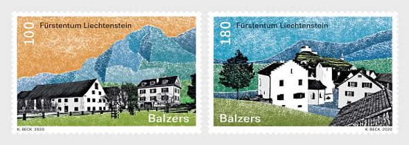 LIECHTENSTEIN  (2020)- Village Views- Balzers (2 values)