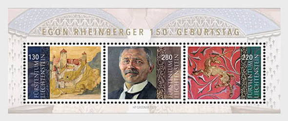 LIECHTENSTEIN  (2020)-150th Birthday of Artist Egon Rheinberger  Sheet