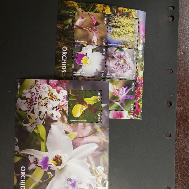 LIBERIA (2020) Orchid , Flora  Sheet Set (2) LAST ONE