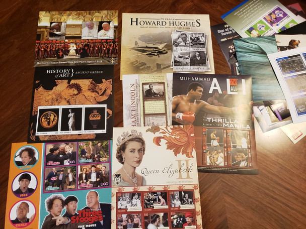 GAMBIA COLLECTION Sheets,Lots of Topics,Elvis,WWII, QEII ,3 Stooges , Art & More LAST ONES