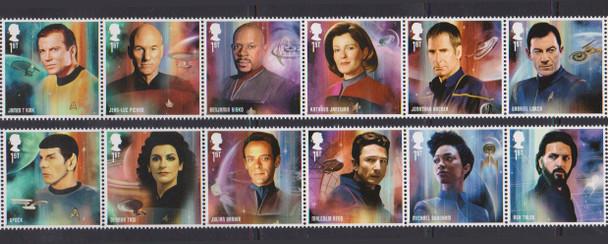 GR. BRITAIN (2020)- Star Trek Set of 12 & Souvenir Sheet