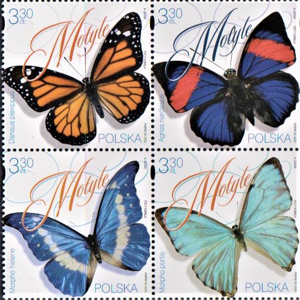 POLAND  (2020)- Butterflies (4v)