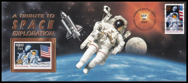 US (1994)- TRIBUTE TO SPACE EXPLORATION COVER W/$9.95 MINT STAMP! SUPER!!