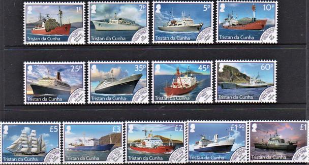 TRISTAN DA CUNHA  (2021)- Ship Definitives (13 values)